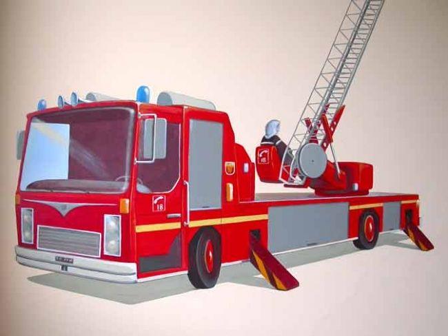 Chambre d 39 enfant - Chambre enfant pompier ...